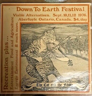 "Canada Aberfoyle Ontario Earth Festival 1976 Alex Emond  ""Cat and the Fiddle"""