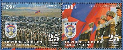Armenia MNH** 2017 Mi. 1004-5 25th Aniv of Formation of the Armee