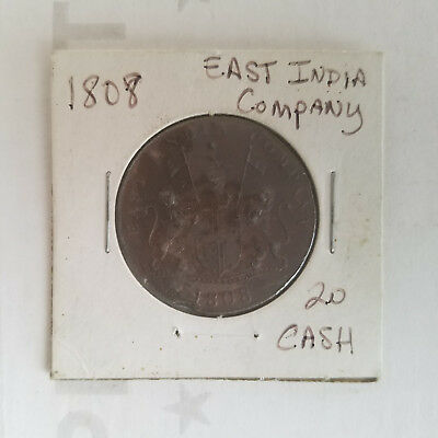 1808 East India Company 20 Cash Token