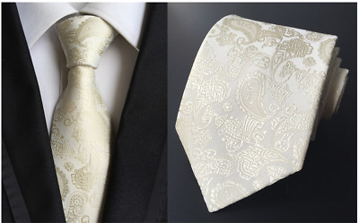 Tie Black Silk Mens Paisley Woven Classic 2018 Wedding Necktie JACQUARD New  011