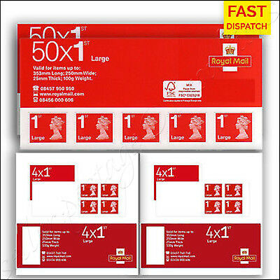 1st Class LARGE Royal Mail Postage Stamps x100 BRAND NEW First SALE SEALED PACKS