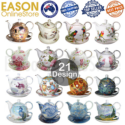 Ceramic Fine Bone China Tea For One Teapot Cup Saucer Set Mother's Day Gift NEW