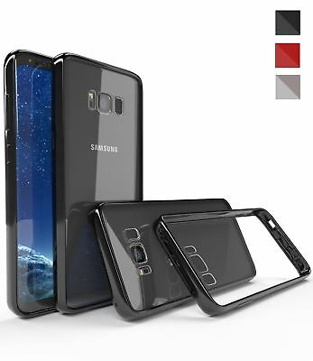 Samsung Galaxy S8 Plus Note 8 Shockproof TPU Bumper Gel Crystal Clear Case Cover