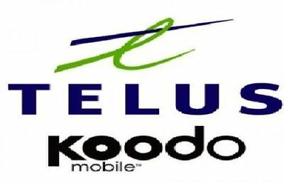 Telus Koodo Blackberry Z10 Z30 Q5 Q10 Priv Motion Passport Classic Unlock Code