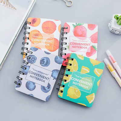 """""""Sweet Fruits"""" 1pc Cute Small Diary Pocket Notebook Memo Pad Mini Journal Spiral"""