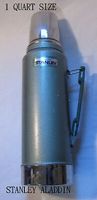 "Aladdin Stanley Vintage Green 14"" tall Metal thermo, Model A-944 DH Quart"