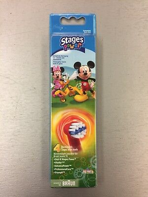 Braun Oral-B Stages Power 100% Genuine Replacement Toothbrush Heads Micky Mouse