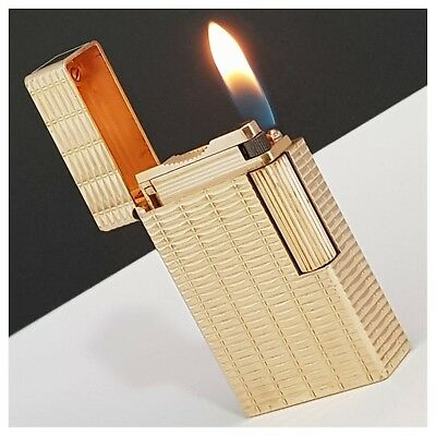 Briquet gaz * St Dupont Paris * plaqué or/Gold plate-Lighter-Feuerzeug-Accendino