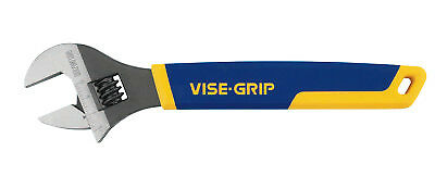 Vise-Grip Adjustable Wrenches, 12 in Long, 1 1/2 in Opening, Chrome