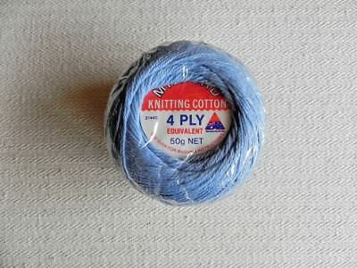 3 balls of Milford Knitting Cotton  - Blue