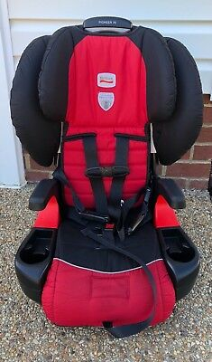 Britax Pioneer 70 Black/Red Congo Harness to Booster Carseat E9LH44L (Exp 2022)