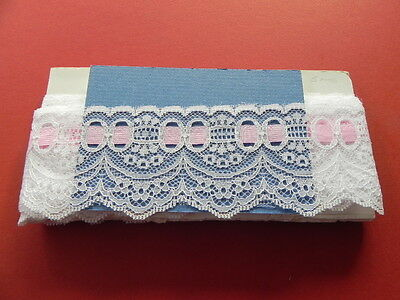Card of  New Lace - White with Pink Trim