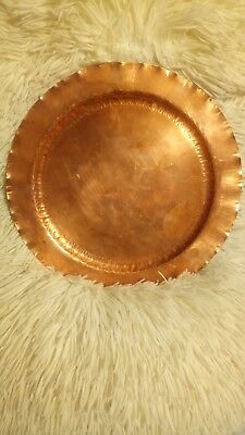 Vintage Arthur H Cole The Avon Coppersmith Solid Copper Tray