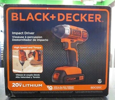 BLACK+DECKER BDCI20C 20V MAX LITHIUM IMPACT WINDOWS 7 DRIVERS DOWNLOAD
