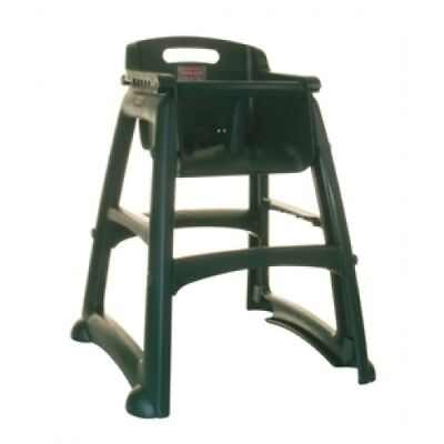 Rubbermaid High Chair 7814 Sturdy Stacking Black Without Tray