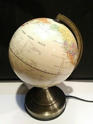 "Vintage Fucashun 8"" Diameter World Globe Touch Lamp"