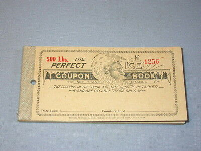 vintage PERFECT ICE COUPON book ** Printed in Lincoln Nebraska ** COMPLETE Book