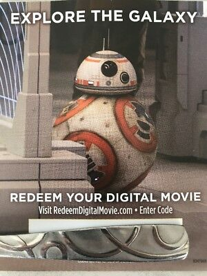 Star Wars Viii 8 The Last Jedi Digital Copy NO Blu-rayOrDVD Canada iTunes Code