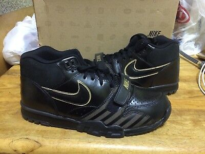 Nike Air Trainer 1 Mid Premium Nrg New Size 10 Bb51 Black Gold 532303-090 47fb66240