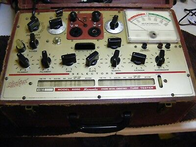 hickok 6000 tube tester decent condition working needs calibration