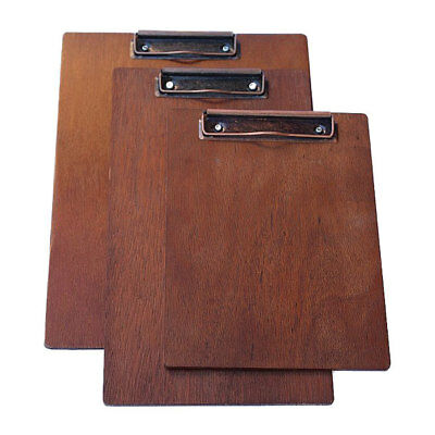 Walnut A5 Timber Board with distressed bronze clipboard clip