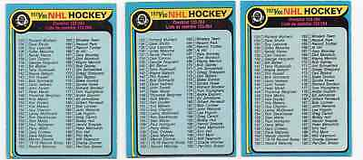 1X UNMARKED CHECKLIST 1979 80 O Pee Chee #237 EXNM opc Lots Available
