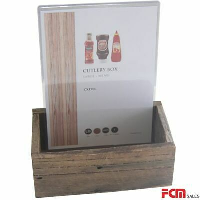 4 x A4 Card holders with large size distressed condiment box
