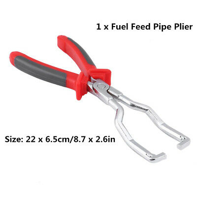 Steel Fuel Feed Pipe Plier Gasoline Fuel Line Hose Clip Clamp Removal Tool LJ4
