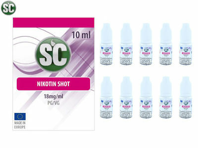 SC Nikotin Shot 50PG / 50VG 10ml 50ml 100ml 18mg/ml Set E-Liquid E-Zigarette