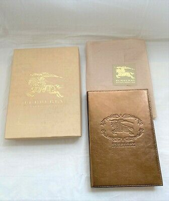 Burberry Metallic Bronze Leather Cover Notebook For Jacket Coat Bag Wallet Pouch