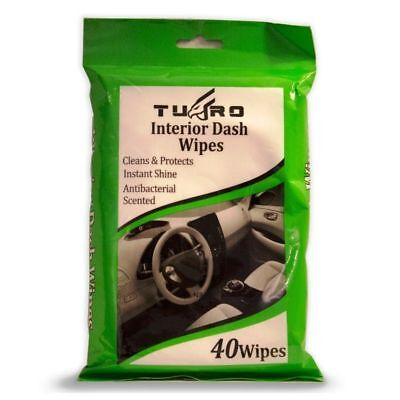 40  Dash Board Instant Wipes Shine Car Interior Pride Clean Resealable Bag