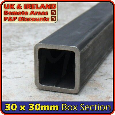 Mild Steel Square Tube ║ 30 x 30 mm ║ box section iron,profile,tubing,pipe