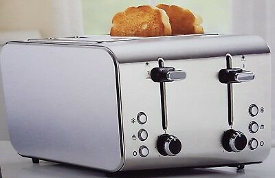 Toaster 4 slice stainless steel 1400 -1600w  Heat setting,Frozen setting