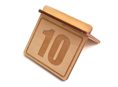 ORIGIN - Wooden Table Numbers (Pack 1-10) Signs For Restaurants, Bars and Cafes