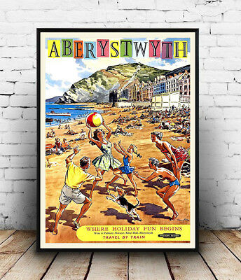 Aberystwyth : Vintage travel Advert , poster, Wall art, poster, reproduction