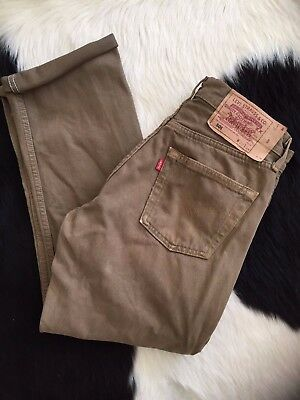 Women's Vintage Olive Brown LEVI'S High waisted Mom Jean 8