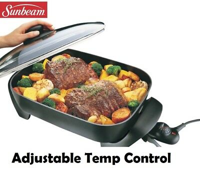 Sunbeam Electric Frypan Family Family Size Large Non Stick Frying Pan Cookware