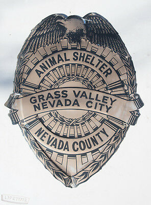 Grass Valley Nevada City County Animal Shelter Control Badge Sign 19x15 (DCK)