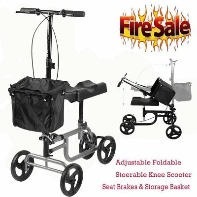 Aluminum Steerable Knee Walker Scooter Crutch Alternative Foldable for Surgery B
