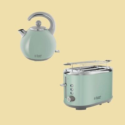 Russell Hobbs Set Bubble Soft Green - Wasserkocher 24404-70 + Toaster 25080-56
