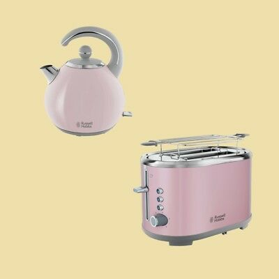 Russell Hobbs Set Bubble Soft Pink - Wasserkocher 24402-70 + Toaster 25081-56