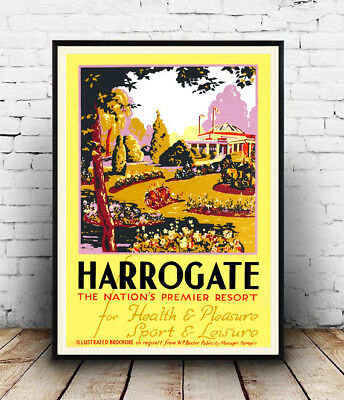 Harrogate : Vintage Travel Advert , poster, Wall art, poster, reproduction.