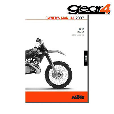 Ktm Oem Owners Manual 125 / 250 Sx / Sxs 2007 English 75% Off 3211174