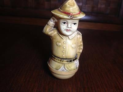 Antique Rare Miniature Scouts, ranger , soldier ? bobblehead made in USA