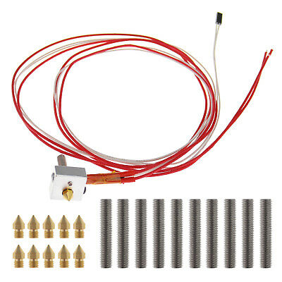 Anet 0.4mm Nozzle Hot End Kit For M6 30mm Extruder i3 A2 A8 A6 3D Printer 1.75mm