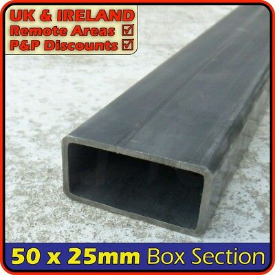 Mild Steel Rectangular Tube ║ 50 x 25 mm ║ box section iron,profile,tubing,pipe