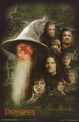 2 Posters:movie Repro: Lord Of The Rings - Gandalf  & Friends    #3524   Rc25 Q