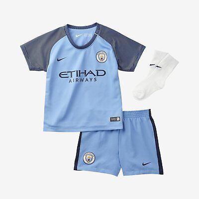 Baby Nike  Man City Football Kit , Shirt Shorts And Socks  6 To 9 Months Bnwt