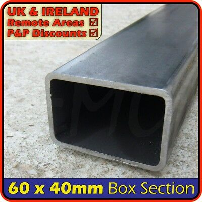 Mild Steel Rectangular Tube ║ 60 x 40 mm ║ box section iron,profile,tubing,pipe