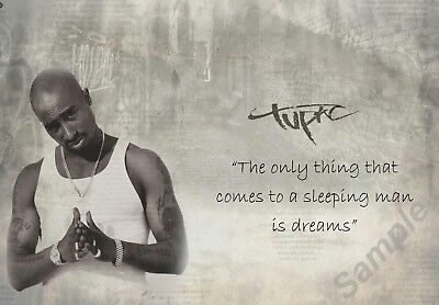 2pac - Tupac Shakur Quote A3 Poster Free Postage